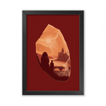 Quadro Decorativo Harry Potter Minimalista